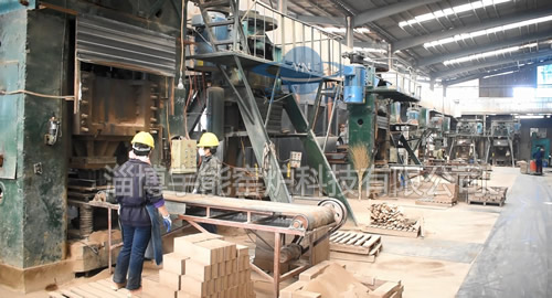 Refractory brick production line